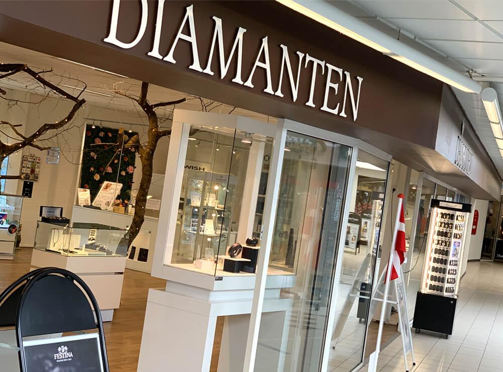Diamanten Farsø, smykker, ure, smykkehandler