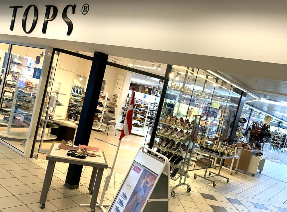 TOPS Stil & Sko, skobutik, lædervarer, Farsø